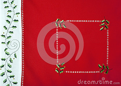 Macro Do Fragmento Do Tablecloth Do Natal Imagem de Stock Royalty Free - Imagem: 27843366