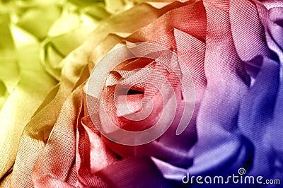 Macro dos tecidos de algodão