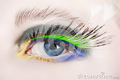 Macro eye with false lashes