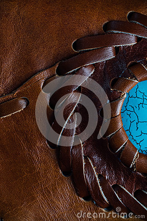 Free Macro Fragment Of A Leather Bag Or Purse. Handmade, Texture Background. Stock Photo - 91054380