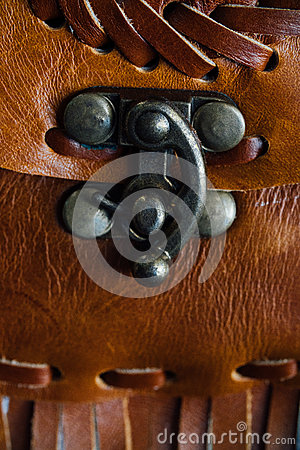 Free Macro Fragment Of A Leather Bag Or Purse. Handmade, Texture Background. Stock Photo - 91054430