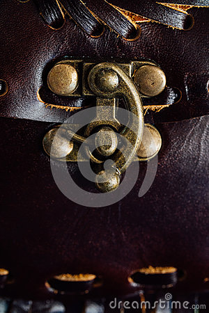 Free Macro Fragment Of A Leather Bag Or Purse. Handmade, Texture Background. Stock Images - 91054434
