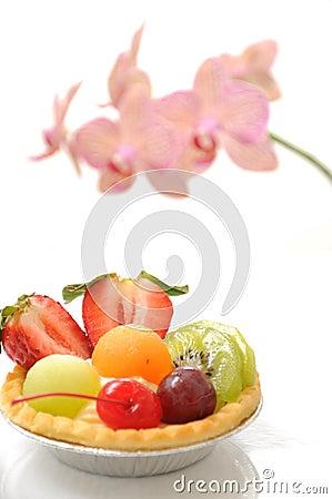 Macro fruit cake