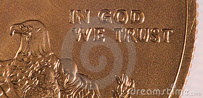 Macro of In God we Trust