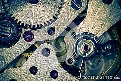Macro Mechanical Gear Background / split toting