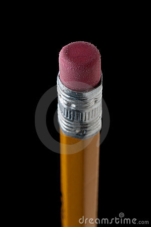 Free Macro Of A Pencil Eraser On Black Stock Images - 14325364