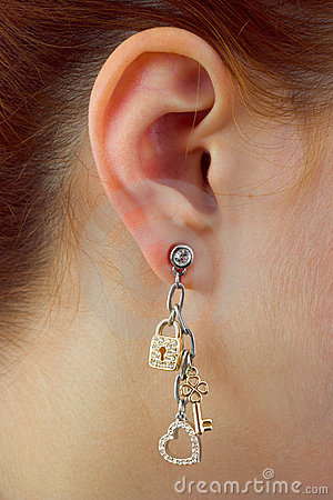 Free Macro Of Earring Royalty Free Stock Photography - 6187157