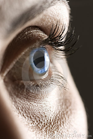 Free Macro On Blue Eye Royalty Free Stock Photos - 13811008