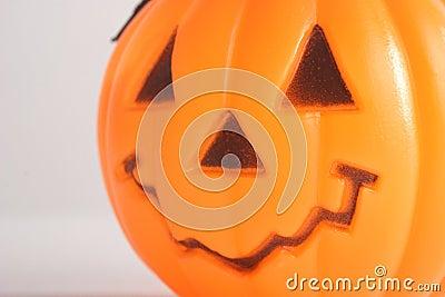 Macro of Plastic Pumpkin
