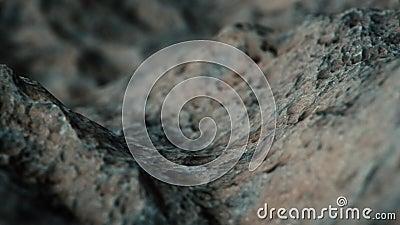 Macro Rocky Terrain Flyover illustrazione di stock