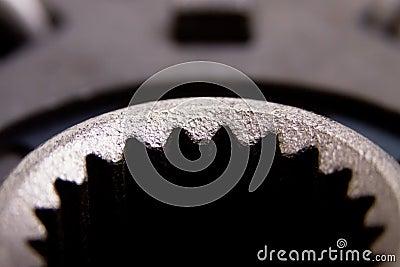 Macro shot of an auto part