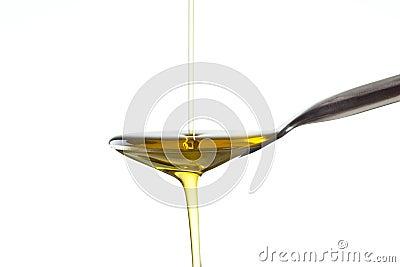 Macro shot of Olive oil