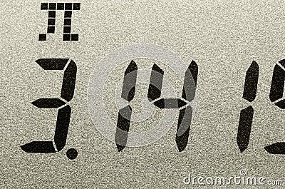 Macro shot of Pi number