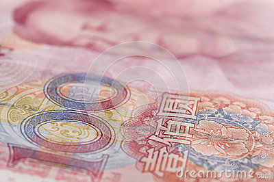 Macro-shot for Renminbi (RMB) , 100 hundred dollar.