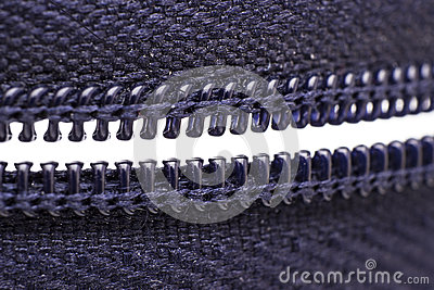 Macro shot of zipper