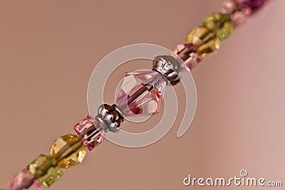 Macro of string of beads