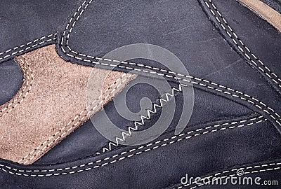 Macro view of stitch pattern