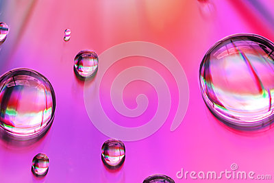 Macro of water drops