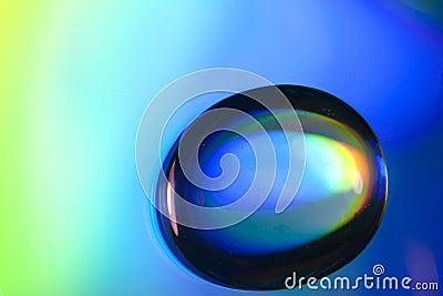 Macro of water drops colorful