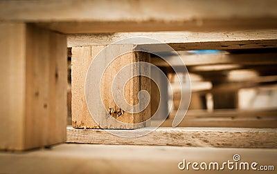 Macro of wood pallet