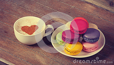 Macrons with cup