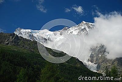 Macugnaga, Italy. View of Monte Rosa