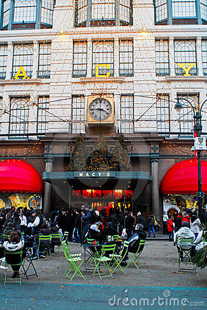 Macy s Department Store at Christmas time. Editorial Stock Photo