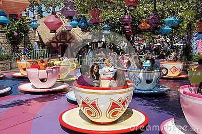 Mad Hatter Tea Cups Disneyland Editorial Stock Photo