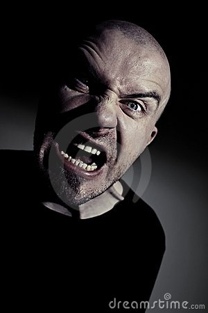 Mad Man Screaming Royalty Free Stock Image - Image: 22977656