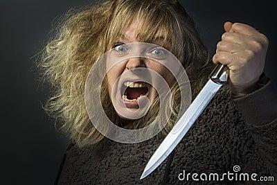 Mad Psychotic Woman