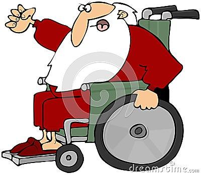 Mad Santa In A Wheelchair