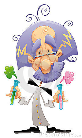 Free Mad Scientist. Royalty Free Stock Images - 13479019