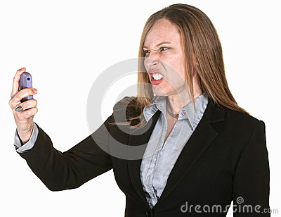Mad Woman with Phone