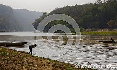 Madagascar morning riverside view