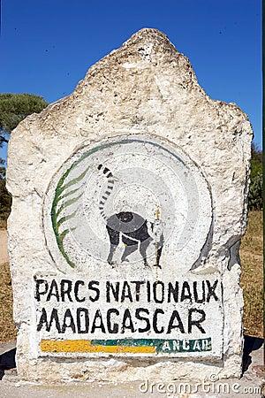 Madagascar National parks logo Editorial Stock Image