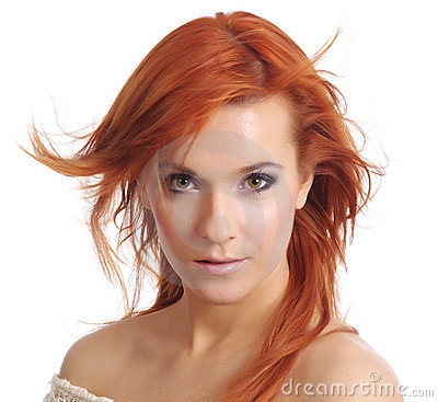 Madame With Long Red Hair