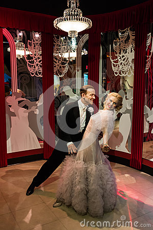 Free Madame Tussauds Fred Astaire And Ginger Rogers Royalty Free Stock Photos - 64045358
