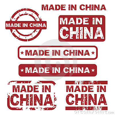Made in china grunge stamps