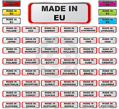 Made in countries
