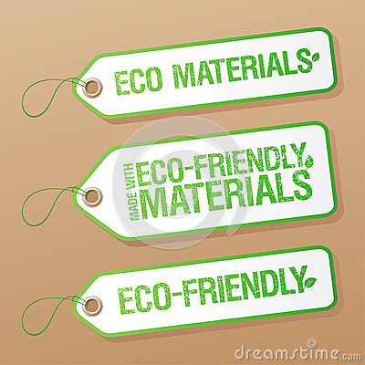 Made with Eco-friendly Materials labels.