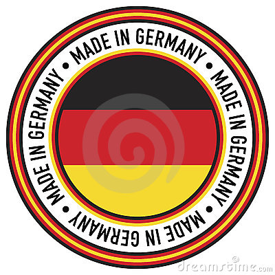 Made in Germany Circular Decal