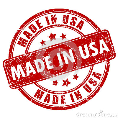 Free Made In USA Stamp Stock Image - 35246071