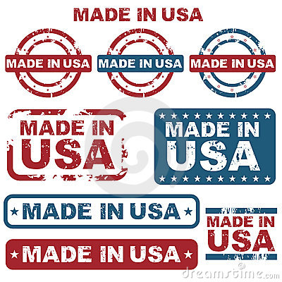 Free Made In USA Stamps Stock Photo - 19892840