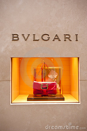 MADE IN ITALY: Bulgari boutique, Montenapoleone Editorial Stock Photo