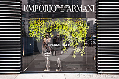 MADE IN ITALY: Emporio Armani store Editorial Stock Image