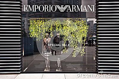 MADE IN ITALY: Emporio Armani store Editorial Stock Image