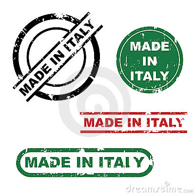Made in Italy stamp set