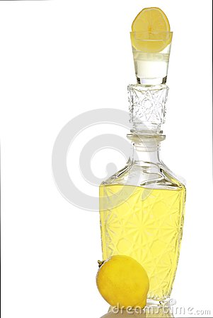 The made liquor from the lemon