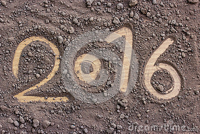 2016 made by soil new year 2016 concept stock photo for What is soil mostly made of