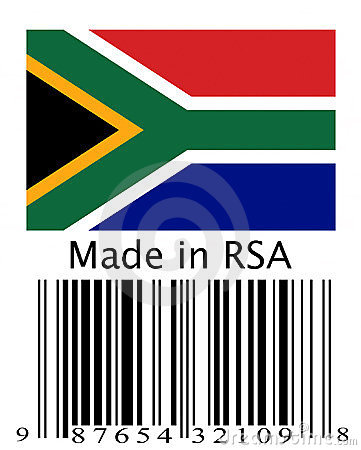 Made in South Africa.